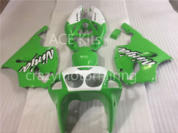 Wholesale Kawasaki Zx7r Green White Fairing - 3 Free gifts New ABS bike Fairing Kits 100% Fitment For Kawasaki Ninja ZX7R 1996 2003 7R 96 03 Bodywork set Green White AK1
