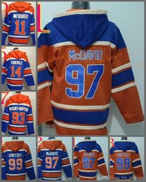Wholesale Cheap Xxl Hoodies - 2017 Cheap Stitched Edmonton Eoilers Hoody #97 McDavid 99 Gretzky 14 Eberle 11 MESSIER hockey Orange Blue Jerseys Ice Jersey ,Hoodie Mix