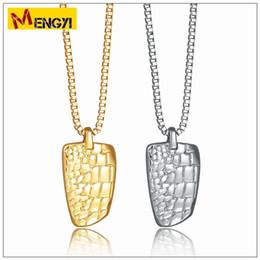 Wholesale Popular Grains - 2018 NEW Hip Hop Necklaces Reggae Crocodile Grain Shape Uzi Golden Pendant High Quality Necklace Gold Chain Popular Fashion Pendant Jewelry