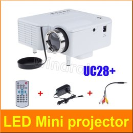 Wholesale Mini Pc Av - UC28+ Projector Mini LED Portable Theater Video Projector PC&Laptop VGA USB SD AV digital pocket home cinema with Retail Package Free DHL