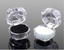 scatola di imballaggio del regalo del broccato Sconti Commercio all'ingrosso acrilico anello dell'orecchino della collana di monili regalo caso di specie Holder 39x39mm