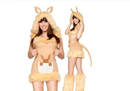 Wholesale Leopard Sexy Girl Costume - Halloween Costume Fur Coat Kangaroo Leopard Cat Girl Game Uniforms Night Show Sexy Theme Costume Uniform