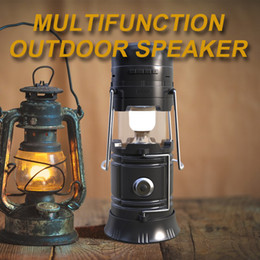 Wholesale Mobile Phone Torch Light - Top Rated Bluetooth Speakers Call reminder FM Radico Wireless Bluetooth Speakers Power Bank Torch Camping light function Outdoor Speaker