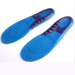 Wholesale Memory Foam Shoe Insole Inserts - 4000Pcs Silicone Gel Insoles Man Women Insoles Orthopedic Massaging Shoe Inserts Shock Absorption Shoepad High Quality