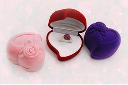 Wholesale Candy Ring Jewelry - Promotion 10pcs lot Size 64*60*44mm Boutique Heart-shaped Pile Coating Jewelry Jewellry Rings Wedding Gifts Candy Sundries Package Box Case