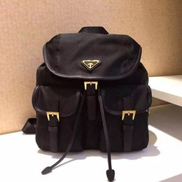 Wholesale Girls Backpack Waterproof - 2017 Luxury orignal P fashion back pack waterproof shoulder bag handbag presbyopic package messenger bag parachute fabric mobile phone purse