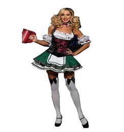 Wholesale Movies German - Drop Shipping Party Halloween Costumes For Women Fashionable Adult Deluxe Cosplay German Beer Girl Costume
