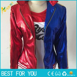 Wholesale Clown Jacket - 2016 NEW movie Suicide Squad Harley Quinn female clown cosplay costume clothing halloween anime coat jacket one set uniform