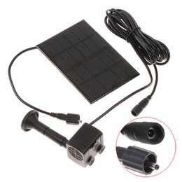 Wholesale Mini Solar Water - High Quality Monocrystalline Silicon Mini Solar Water Pump Power Panel Kit Fountain Pool Pump Garden Pond Submersible Watering