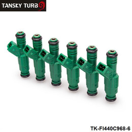 Wholesale Ev6 Injector - TANSKY - 6PCS LOTHigh flow Fuel Injector 440cc 42lb 0 280 155 968 EV6 BA BF HSV FPV Turbo TK-FI440C968-6