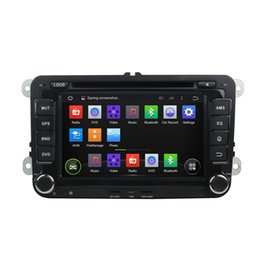 Wholesale Gps Touran - VW 7 Inch Capacitive multi-touch screen Android 5.1 Car DVD Player for Sagitar Tiguan Touran Jetta Seat CC Polo GPS WIFI 3G