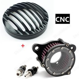 Wholesale Cleaning Headlights - Motorcycle accessories Air Cleaner Intake Filter+Headlight cover for 2004-2015 Harley Sportster XL 883 1200