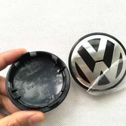Wholesale Vw Center Caps - 200pcs lot 65mm Car Wheel Cover Badge Wheel Hub VW Center Caps Emblem For VW 2010 TOUARET