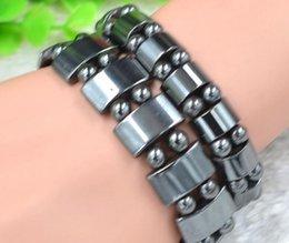 Homme femme Perles noires en hématite magnétiques Bracelets de thérapie pour hématite magnétique Lg 12mm 16mm ? partir de fabricateur