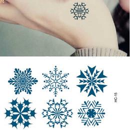 Wholesale Temporary Snowflake Tattoos - New Christmas Waterproof Tattoo Stickers To Cover The Scar Small Birthmark Snowflake Design Temporary Tattoo Sticker