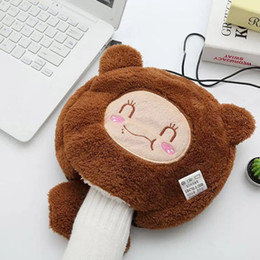 Wholesale Hand Warmer Heating Pads - 2017 NEW USB heated type mouse mat with wrist rest keep your hands warm in winter warm hand mouse pad