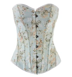Wholesale Printed Body Skirt - 2016 Sexy Girl's Floral skirt Strapless Corset Sexy Bustiers multicolor Floral Print Lady Best Body Shaper Corsets Gothic Shapewear