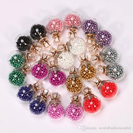 Wholesale Gold Bulbs - Candy Color Temperament Stud Earrings Statement transparent bead Earrings for Women Fashion female gifts Bulb Ear Sud Earing Jewelry