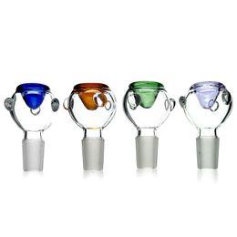 Venta caliente accesorios de fumar tazones de vidrio masculino conjunto hembra 14 mm 18 mm tazones de vidrio para plataformas petroleras de vidrio Bongs desde fabricantes
