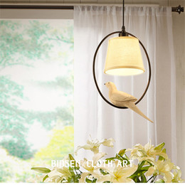 Wholesale American Country Living - Wholesale- Nordic bird chandelier American country creative living room restaurant simple bedroom study balcony retro lighting WPL227
