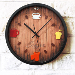 Wholesale Coffee Time - Wholesale-Leisure time 3D stereoscopic creative fashion watches Bar restaurant coffee pot hanging decorative wall Zhong Shiying clock