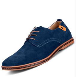 Wholesale Green Hunter Boot - Big Size 48 Men Shoes Genuine Leather Flats Shoes Men Boots Fashion Oxfords Shoes For Men Wedding Dress Shoes