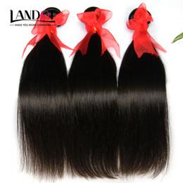 Wholesale Mongolian Mix Virgin Hair - Brazilian Virgin Hair Straight 3 Bundles Cheap Peruvian Indian Cambodian Mongolian Malaysian Remy Human Hair Weaves Natural Black Extensions