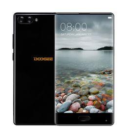 Wholesale Android Phone Dual Cam 8mp - Doogee Mix Mobile Phone 5.5 Inch HD Helio P25 Octa Core 4GB 6GB RAM+64GB ROM 8MP+16MP Dual Rear Cam Fingerprint Bezel-less Phone