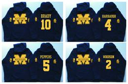 Wholesale hooded sweatshirt xl - 5 Jabrill Peppers 4 Jim Harbaugh 10 Brady 2 Charles Woodson 21 Desmond Howard Michigan Wolverines Hockey Hoodie Hooded Sweatshirt Jackets