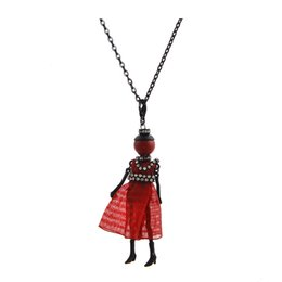Wholesale Dance Key Chains - Frace Dance Doll Necklace Pendants Fashion Kids Doll Key Chains Jewelry For Women Girl Styles Accessories Gifts Wholesales Retails