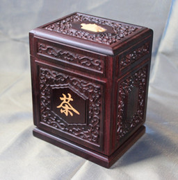 Wholesale Tea Desk - Wooden box loose Tea Caddy canister Desk decor Accessories rosewood woodcraft African ebony storage jar