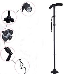 Wholesale hiking stick cane - Wholesale-Hiking Walking Stick Dependable Folded Cane with Light WalkingStick