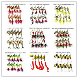 Wholesale Bass Minnow Lure - HENGJIA 10PCS Lot 10 style spinner baits fishing lure spoons lure fishing Shallow Water Bass Walleye Crappie Minnow Sequins metal baits
