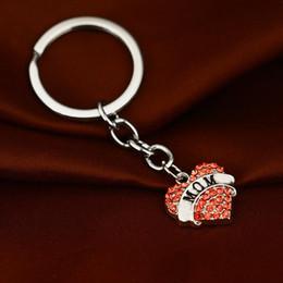 porte-clés coeur rose Promotion Rose cristal coeur porte-clés grand-mère fille Faith Hope membre de la famille amour pendentif porte-clés porte-clés hommes femmes pend bijoux cadeau 170362