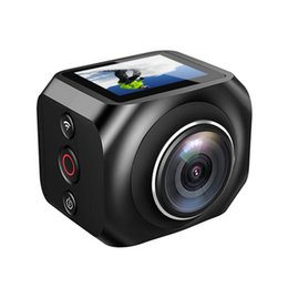 Wholesale Lcd Virtual - The new 360 panoramic camera VR panoramic shooting high-definition dual-lens camera R360 virtual reality camera retail packaging