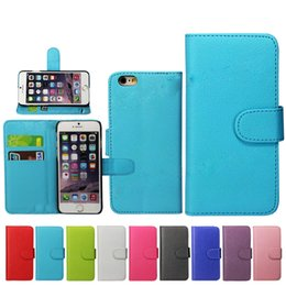 Wholesale Leather 4s Phone - 2016 Luxury Cell Phone Case For iphone 6s plus 5s 4s Wallet Case Samsung S6 Note5 edge Case S7 PU Leather Card Case