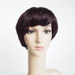 parrucche corte brasiliane del merletto Sconti Parrucche brasiliane dei capelli umani Parrucche corte dei capelli umani Parrucca corta nessuna parrucca del merletto per le donne nere