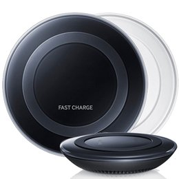 Wholesale Fans Notes - Black White Samsung Qi Wireless Charger QUICK FAST Pad Palte for Galaxy Note 5 S7 S6 Edge Plus Fan Retail Package