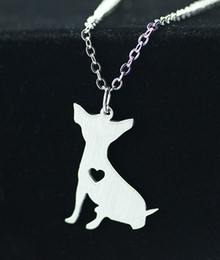 Wholesale Selling Stainless Steel Necklace Chain - 2016 Korean cute chihuahua dog accessories brand wild animal lovers pendant necklace hot selling stainless steel Animal necklace