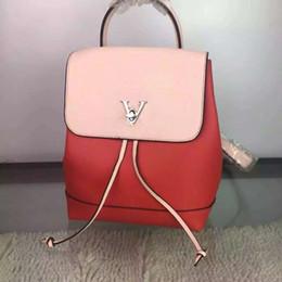 Wholesale Korean Girl Backpack Handbag - 2016 new Korean tide Mini Backpack Bag Lady shoulder Cross Leather Women's fashion Handbag presbyopia small backpack female Style: M41815