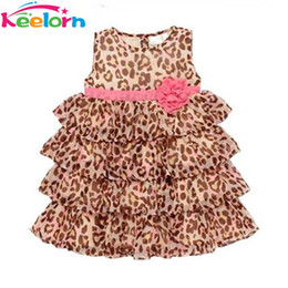 Wholesale Beach Dress Girls Leopard - Wholesale- Keelorn baby girl clothes 2017 New Fashion baby girl's leopard print dress cute Children's dresses Children's clothing