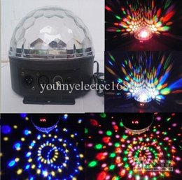 Wholesale Crystal Magic Ball Dmx - Free Shipping DMX 512 US EU Plug 20W Auto Voice-activated LED RGB Crystal Magic Ball Effect Light Disco DJ Party Stage Light