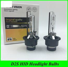Wholesale D2r Xenon Hid Bulbs - 2 Pcs 35W Car Auto Headlight lamp 12V HID Xenon bulb D2S D2R 4300K 6000K 8000K 10000K D2S D2 HID Replacement kit