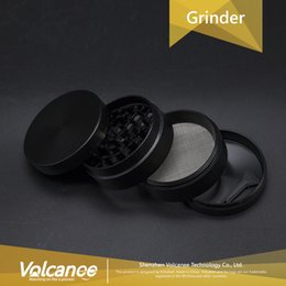 Wholesale Herbs Grinders - Sharp Stone style 4 Layer Metal Grinder herb Grinder style Grinders Zinc Alloy CNC herb Grinder Black Grinders for dry herb