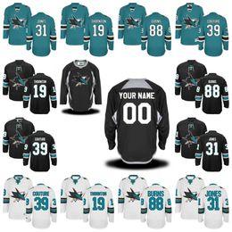 Wholesale 48 Sharks Jersey - Women's San Jose Sharks Jerseys 19 Joe Thornton 8 Joe Pavelski 88 Brent Burns 39 Logan Couture 48 Tomas Hertl Hockey Jerseys