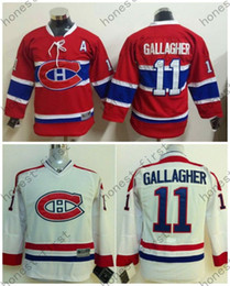 Kinderhockey trikot online-2015-16 Kinder Montreal Canadiens Hockey Trikots Jugend # 11 Brendan Gallagher Jersey Kinder Authentic Stitched Jersey