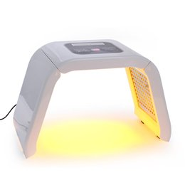 Wholesale red led light skin - Korea Portable OMEGA Light PDT LED Therapy Red Blue Green Yellow 4 Color Led new facial light therapy lasers for acne treatment