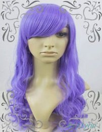 Wholesale Wig Sheryl - 100% Brand New High Quality Fashion Picture full lace wigs>>Sheryl Nrom Cosplay Long Purple Curly Wigs
