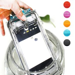 Wholesale Iphone5 Silicone Back Case Pc - Outdoor Waterproof 40m Diving Case Swimming Back Cover for iPhone5 5s 5c SE Shockproof TPU+PC Underwater Cover Case