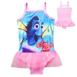 Wholesale Swim Wear 3t Girls - 2016 Finding Dory Baby Kids Girls Swim Wear Clothes Children Girls Swimsuit Girls One Pieces Sets Swimwear Bathing Beachwear
